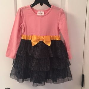 3T Hanna Andersson pink & navy party dress